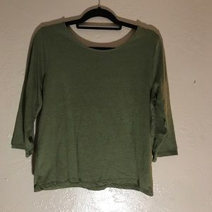 NEW Casual J.Crew Top with V in Back